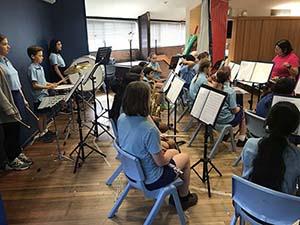Mawson Band practice